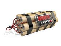 Bombe avec la minuterie de pendule à lecture digitale Image stock