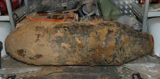 Bombe DÃ ¼ sseldorf Deutschland des Weltkrieg-2 Stockfoto