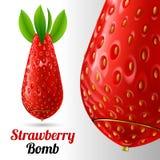Bombe de fraise Photographie stock libre de droits