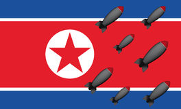 Bombe del Nord Corea Fotografie Stock