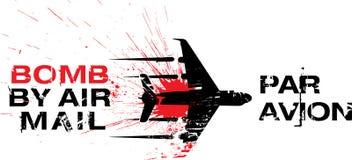 Bombe durch Luftpost Stockfotos