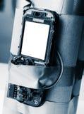 Bombe faite main de terroriste dans la couleur bleue photographie stock