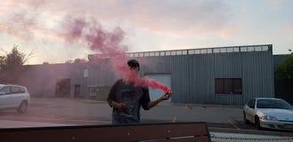 Bombe fumigène Photographie stock libre de droits