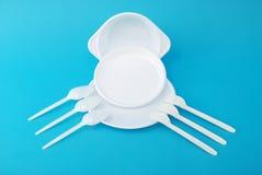 bombe le blanc remplaçable de cuillère de fourchette photo libre de droits