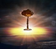 Bombe nucléaire Images libres de droits