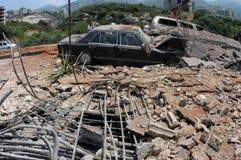 Bombed Bridge Royalty Free Stock Images
