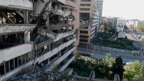 Bombed building stock video footage