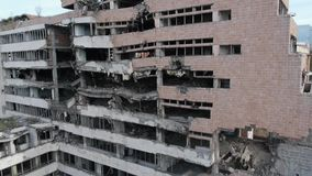 Bombed building stock footage