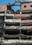 Bombed building in Belgrade. Former Yugoslav Ministry of Defence building destroyed during NATO bombing in Belgrade city, Serbia stock photography