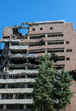 Bombed building in Belgrade Stock Photos