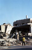 Bombed Building in West Bank Royalty Free Stock Image