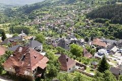 Bombed house at Jajce. Bosnia and Herzegovina Stock Photos