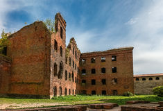 Bombed-out building in Oreshek, Saint-Petersburg Stock Photos