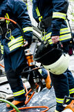 Bombeiros após o trabalho Imagem de Stock