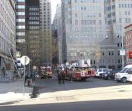 Bombeiros de New York na ação foto de stock