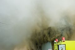 Bombeiros no trabalho 8 Fotos de Stock Royalty Free