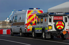 Bomben-Beseitigungs-Fahrzeuge Lizenzfreies Stockfoto