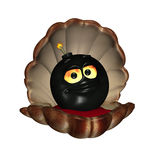Bomben-Shell - schwarze Perle Stockfotografie