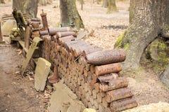Bomben und Granaten von Weltkrieg 1 in Flandern Belgien Lizenzfreies Stockbild