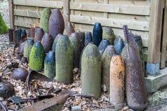 Bomben und Granaten von Weltkrieg 1 in Flandern Belgien Lizenzfreie Stockfotografie