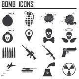 Bombenikone, Waffe Lizenzfreie Stockfotografie