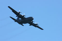 Bomber 2. Picture of a quadrimotor bomber against a blue sky shot diagonally Stock Photos