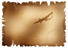 Bomber aircraft over sea Royalty Free Stock Photos