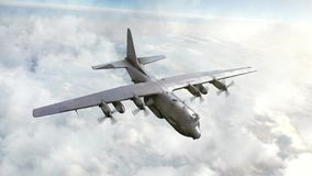 Bomber flying in the sky. CG, 3d animation stock video