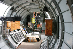 Bomber Fuselage. The inside of a B-17 Bomber Fuselage Royalty Free Stock Photo
