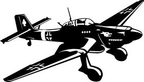 Bomber JU-87 airplane stock image