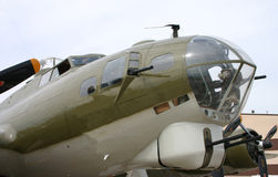 Bomber Nose. Nose of a B-17 Bomber Stock Photo