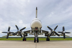 Bomber plane with propellers Royalty Free Stock Image