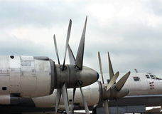 Bomber Tu-95 �Bear�, front part of the aircraft Stock Images