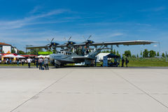 Bomber-, Untersuchungs- und Seenotrettungsdienstflugboot, Dornier tun amphibisch moderne Replik 24ATT lizenzfreie stockfotografie
