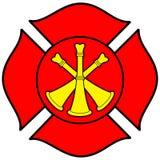 Bombero Bugle Badge Fotos de archivo