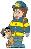 Bombero con el perro