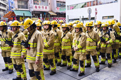 Bombero de Hong-Kong Imágenes de archivo libres de regalías