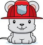 Bombero sonriente Mouse de la historieta Fotografía de archivo