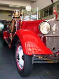 Bomberos. Close up of an old fire truck used by Porto's fireman. This photo was taken at the Porto firemen station near the Aliados Stock Images