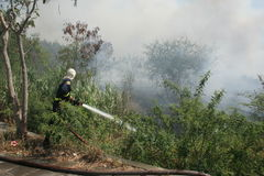 bomberos Fotos de archivo