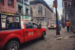Bomberos en Ciudad de México Imágenes de archivo libres de regalías