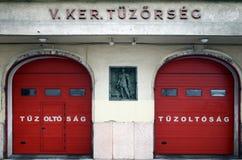 Bomberos en Hungría, Budapest fotografía de archivo