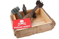 Bombes de mortier de déminage (déminage) images libres de droits