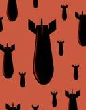 Bombes sur le rouge illustration stock