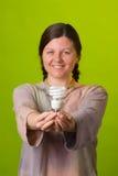 Bombilla ahorro de energía Fotografía de archivo libre de regalías