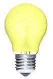 Bombilla amarilla aislada Imágenes de archivo libres de regalías