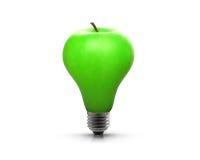 Bombilla Apple imagen de archivo libre de regalías
