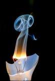 Bombilla ardiente Foto de archivo libre de regalías