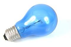 Bombilla azul imágenes de archivo libres de regalías
