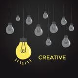Bombilla creativa Fotografía de archivo libre de regalías